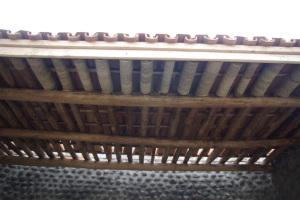 Detail Terrassendach der Zimmer