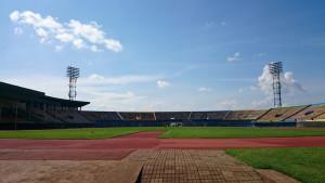 Das Stadion: vor dem Sturm