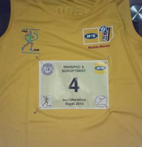 meine Startnummer für den Halbmarathon