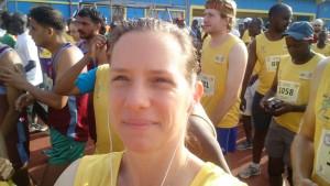 Nicole kurz vor dem Start