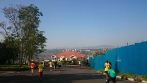 zerstreutes Läuferfeld in Gacuriro