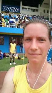 Nicole nach dem Zieleinlauf
