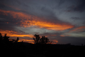 Sunset über Kigali