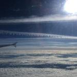 Reger Flugverkehr über den Wolken